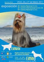 Imagen del Catálogo de la 24 Exposición Internacional Canina de Galicia celebrada en Vigo.